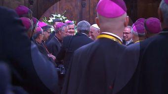 [VIDEO] El saludo del Papa Francisco al obispo Juan Barros