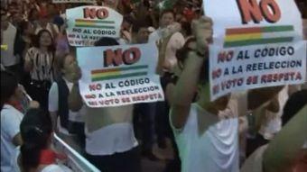 [VIDEO] Carnaval de protestas en Bolivia por nuevo código penal