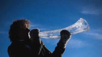 [FOTOS] Realizan en Noruega festival de música con instrumentos de hielo