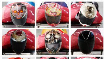 [GALERÍA] Los coloridos cascos que se roban la atención en el skeleton olímpico