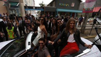 """El elenco de """"Soltera otra vez 3"""" por las calles de Viña del Mar durante el fin de semana"""