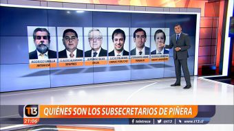 [VIDEO] Ramón Ulloa explica quiénes son los subsecretarios de Piñera