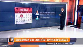 [VIDEO] Ramón Ulloa revisa cuáles son las nuevas fechas de vacunación contra la influenza