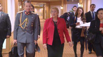 Última gira de Bachelet en Japón