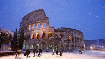 [FOTOS] Roma amanece bajo un manto blanco tras tormenta de nieve