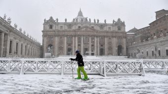 [FOTOS] Una ola de frío siberiano deja a Roma cubierta de nieve