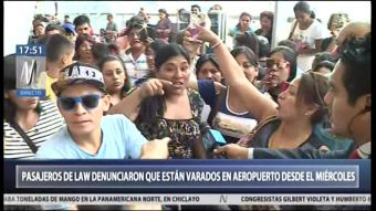 [VIDEO] Las protestas en el aeropuerto de Lima contra Law