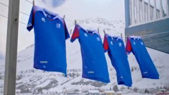 [VIDEO] La nueva camiseta con la que Islandia disputará su primera Copa del Mundo