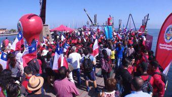 [VIDEO] Movilización en Antofagasta para responder a Evo Morales