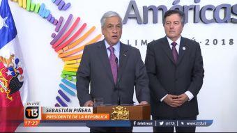 [VIDEO] Presidente Piñera entregó su balance de la Cumbre de Las Américas