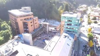 [VIDEO] Imágenes aéreas dan cuenta de cómo quedo el Sanatorio de Concepción tras la explosión