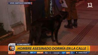 [VIDEO] La entristecedora reacción de los perros de la persona asesinada en Santiago