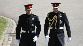 [VIDEO] La elegante llegada de los príncipe Harry y William