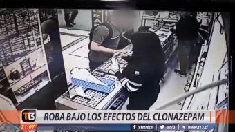 [VIDEO] Delincuente roba bajo los efectos del clonazepam