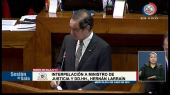 [VIDEO] Con desalojo y duras críticas: Así fue la interpelación a Hernán Larraín