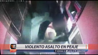 [VIDEO] Violento asalto en peaje