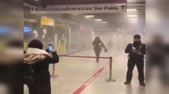 [VIDEO] El caos que generó el incendio en el Metro