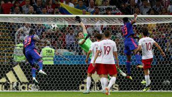 [VIDEO] El gran cabezazo con que Yerry Mina abrió la cuenta para Colombia ante Polonia