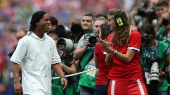 [FOTOS] Ronaldinho se robó la película en la final de la Copa del Mundo Rusia 2018