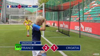 VIDEO  La recreación de la final del Mundial hecha por niños que se  convirtió 1b2c579c1ff7c