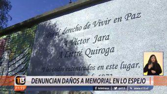 [VIDEO] Denuncian daños a memorial de Victor Jara en Lo Espejo