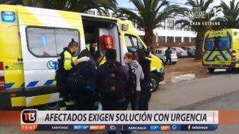 [VIDEO] Vecinos de Quintero encararon a Seremi tras nuevos casos de intoxicación