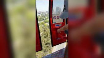[VIDEO] Cuestionan seguridad del teleférico del cerro San Cristóbal