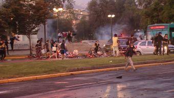 [VIDEO] La noche de furia tras protesta en Santiago por muerte de Catrillanca