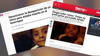 Conmoción en Argentina: Encuentran muerto a niño de cinco años al interior de una lavadora