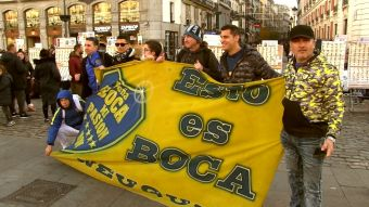 [VIDEO] Final River-Boca: Hinchas argentinos se toman Madrid