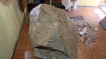 [VIDEO] Roca destruye casa en Andacollo