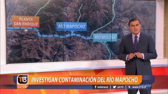 [VIDEO] Investigan de contaminación del río Mapocho apuntaría a centro de ski