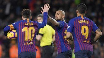 VIDEO  La inteligente habilitación de Vidal a Messi para anotar el empate  del Barcelona 6d0889f256618