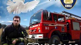 Nicolás Soto, bombero fallecido tras incendios forestales