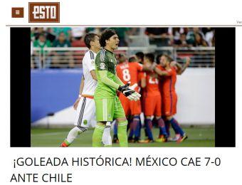 [FOTOS] Así reaccionó la prensa mexicana tras caer por 7-0 ante Chile en Copa Centenario