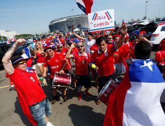 [FOTOS] Los coloridos hinchas chilenos y argentinos que repletan el Metlife Stadium