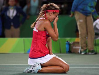[FOTOS] El llanto de la tenista Mónica Puig tras dar el primer oro a Puerto Rico en unos JJ.OO.