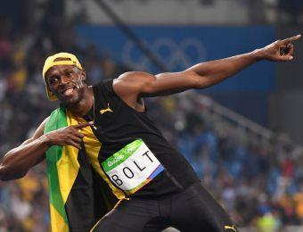 [FOTOS] La celebración de Usain Bolt por su oro en los 100 metros de Río 2016