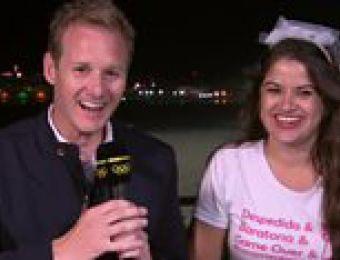 El divertido momento en que una despedida de soltera interrumpe una transmisión de la BBC en Río