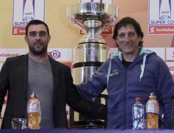 [FOTOS] Guede y Salas anticiparon la final de la Supercopa Chile por Canal 13