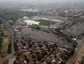 [FOTOS] Vista aérea del Estadio Monumental en la previa del Superclásico