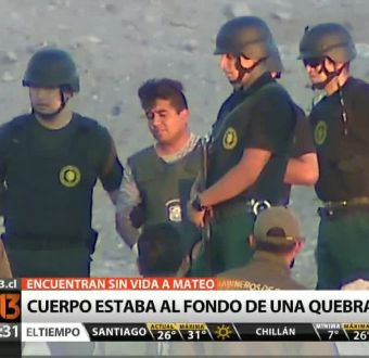 [T13 Tarde] Padrastro confiesa que enterró cuerpo de Mateo Riquelme
