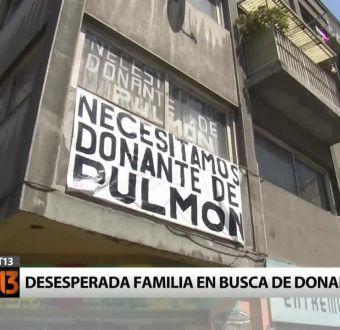 [T13] La desesperada campaña de una familia por encontrar un donante de pulmón