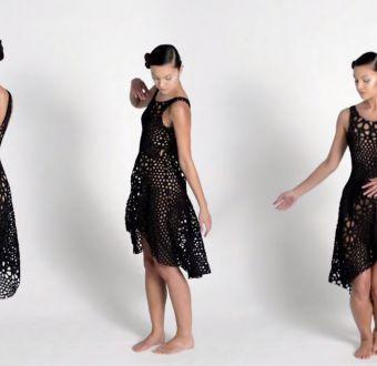 [VIDEO] Así se ve el vestido impreso en 4D que compró el MoMA