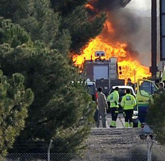 F-16 griego deja 10 muertos tras estrellarse en España