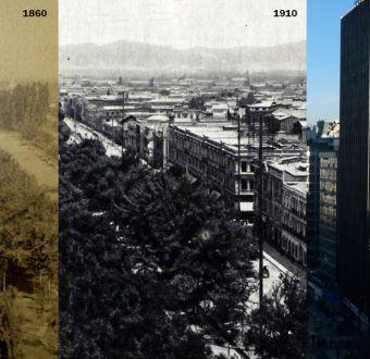[Interactivo] Santiago ayer y hoy: así han cambiado 8 lugares emblemáticos de la capital