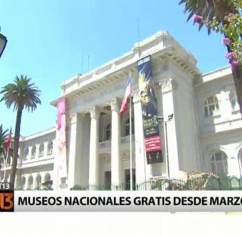 A contar de mañana los museos nacionales serán gratuitos