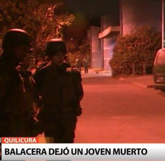 Muere joven de 16 años en medio de una balacera en Quilicura
