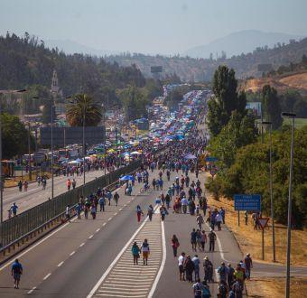 Peregrinación a Lo Vásquez: cortes, desvíos y rutas alternativas entre Santiago y Valparaíso