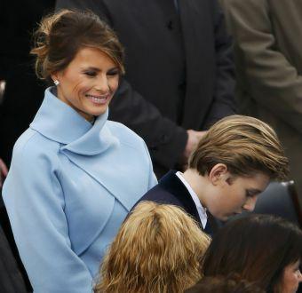Melania Trump en la ceremonia de cambio de mando en Estados Unidos